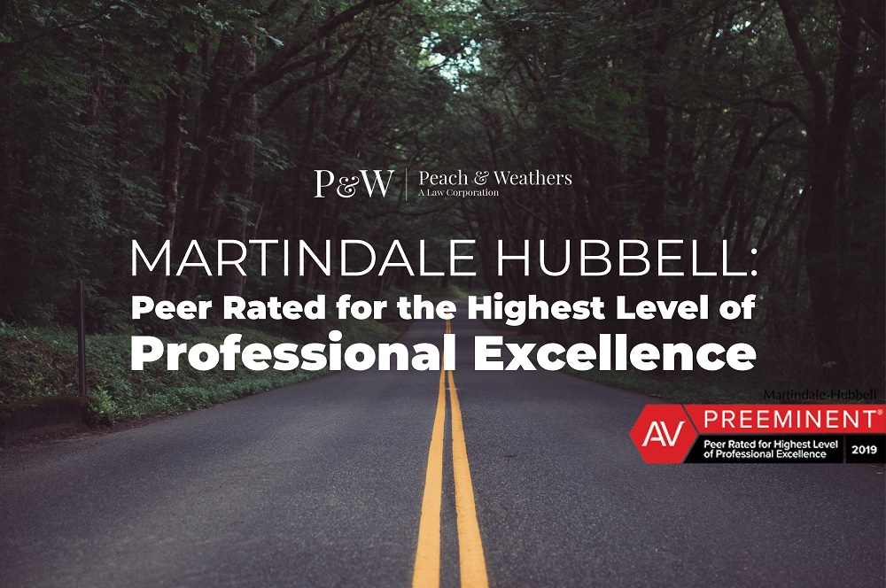 Martindale Hubbell: Peer Rated for the Highest Level of Professional Excellence