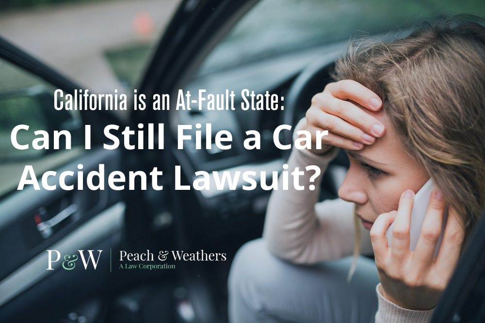 woman in car accident: determining fault in an accident