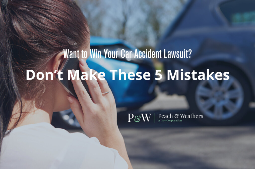 woman in accident: winning a car accident lawsuit